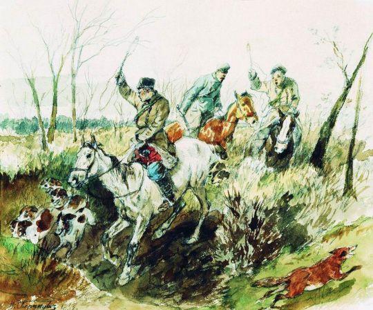 Охотники. 1882