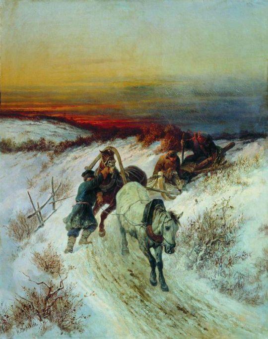 Зимняя дорога. Возвращение с охоты