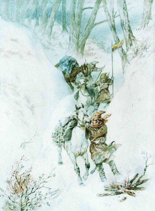 Гусары. На перевале Умургач. 1877-1878