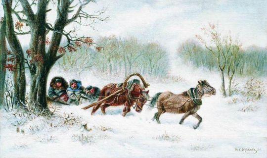 Гуськом. 1883