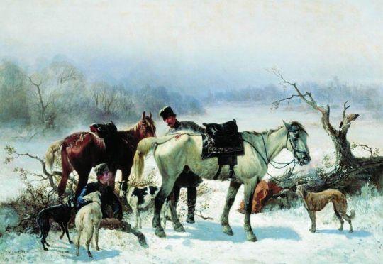Отдых охотника. 1865