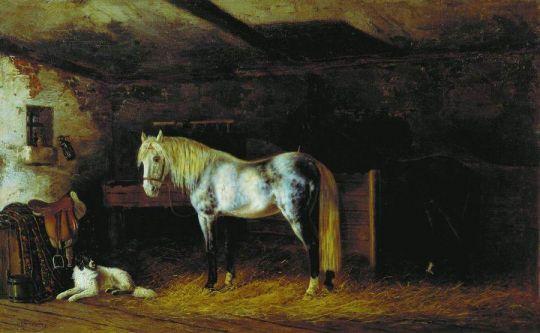 В конюшне