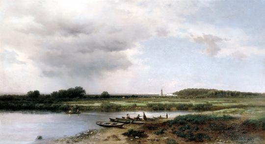 Вид на реку Казанку. 1875