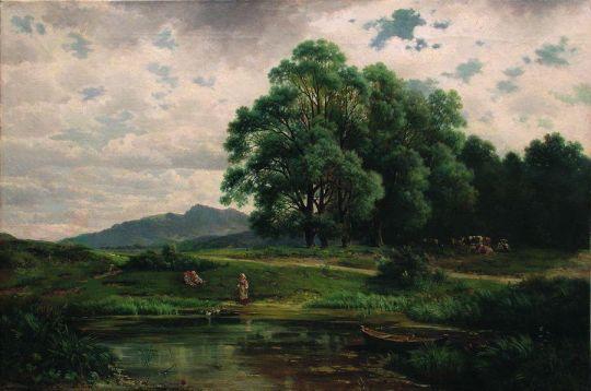 Пруд на опушке леса. 1870-е