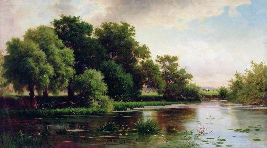 Пейзаж с прудом. 1884