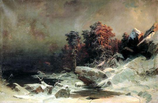 Зимний вечер в Финляндии. 1866