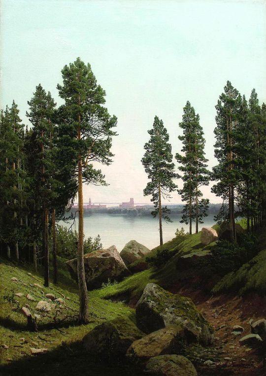 Пейзаж с озером. 1870-е