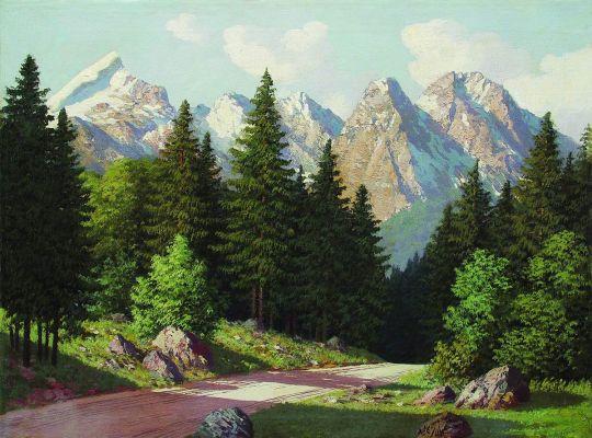 Горный пейзаж. 1899