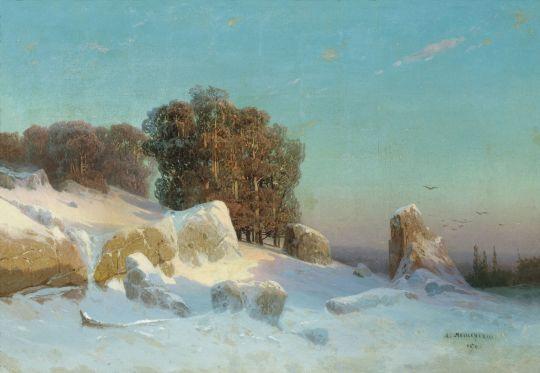Зимний пейзаж. 1870