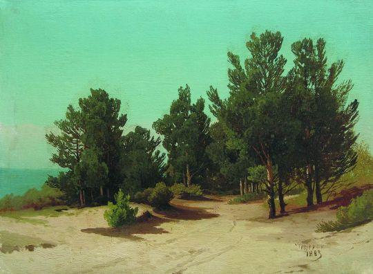 На берегу. Солнечный день. 1883