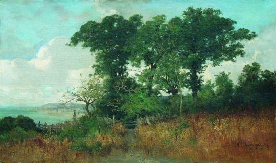 Возле моря. Пейзаж с изгородью. 1890-е