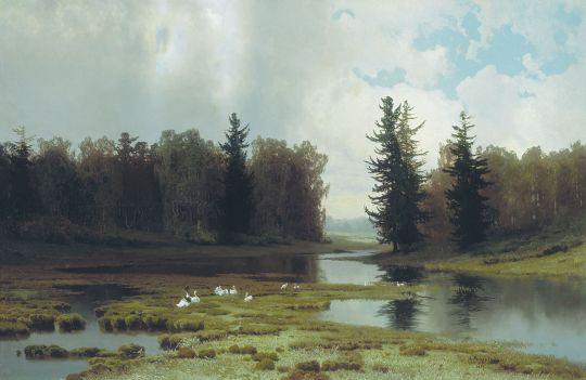 В кочках. 1889