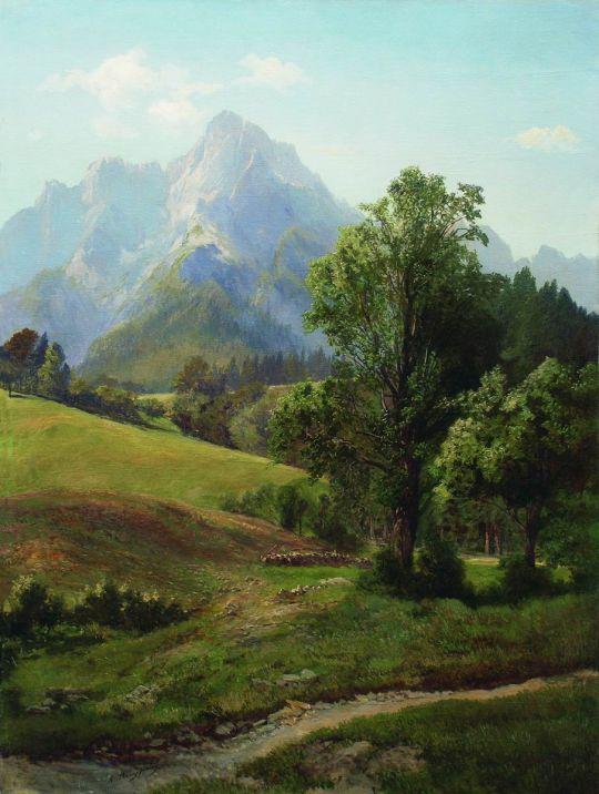 Альпийский пейзаж. 1880-е
