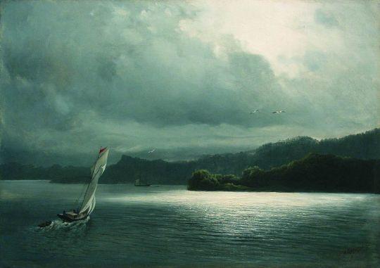 Парусник в море. 1870