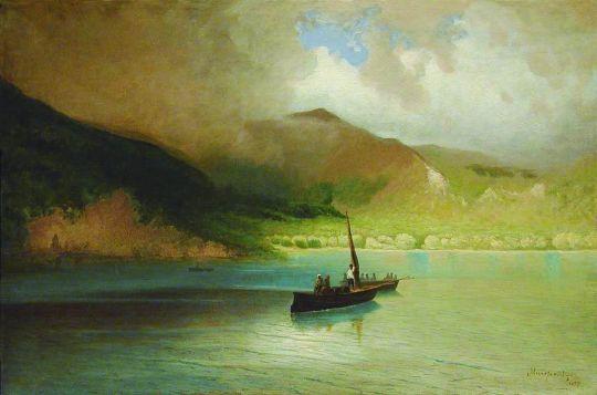 Пейзаж с рыбацкими лодками. 1897