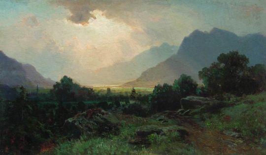 Озеро в горах. 1870