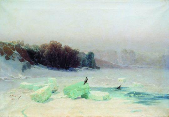 Заготовка льда. 1895