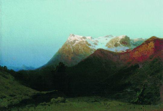 В горах (Сумерки в горах). 1891