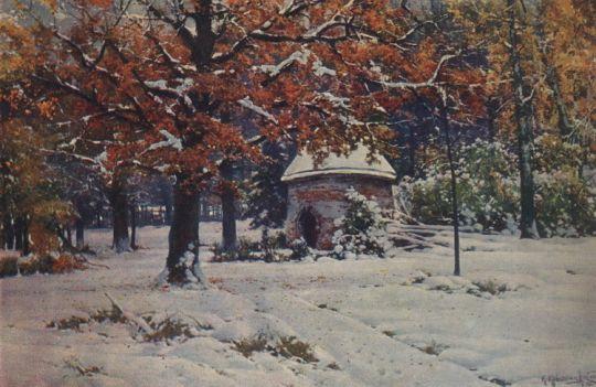 Снег выпал в сентябре