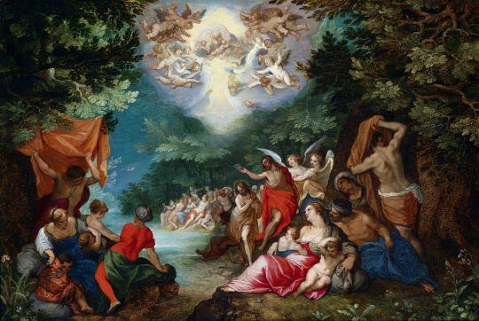 Крещение Господне (совместно с Роттенхаммером) (ок.1600) (Частная коллекция)