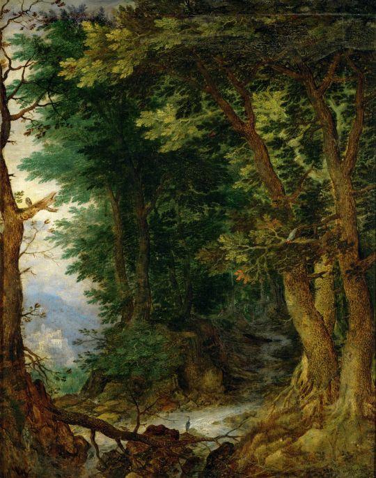 Лесной пейзаж (1605-1610) (Вена, Музей истории искусств)