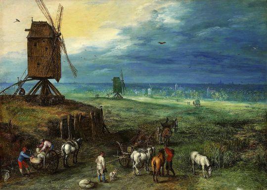 Пейзаж с мельницей (Частная коллекция)
