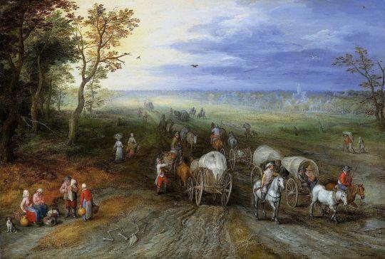 Пейзаж с путниками (Частная коллекция)
