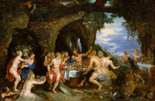 Праздник Ахела (совместно с Питером Рубенсом) (ок.1515) (Нью-Йорк, Метрополитен)