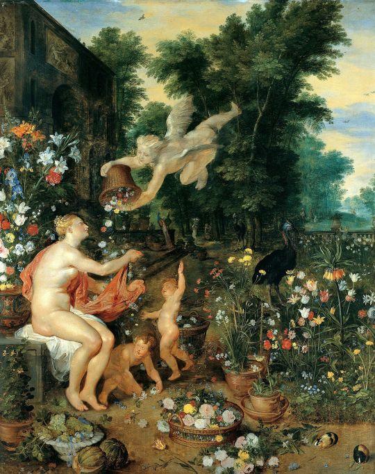 Флора и Зефир (ок.1617) (Дессау, Дворец Мозигау)
