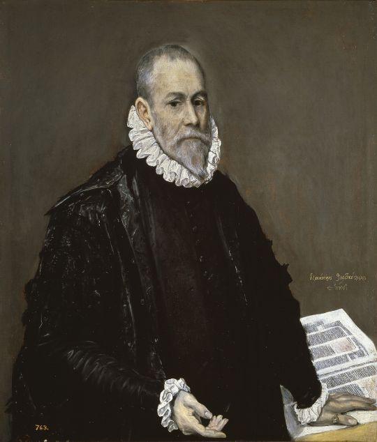 Портрет доктора Родриго де ла Фуэнте (1582-1585) (96 x 82,3) (Мадрид, Прадо)