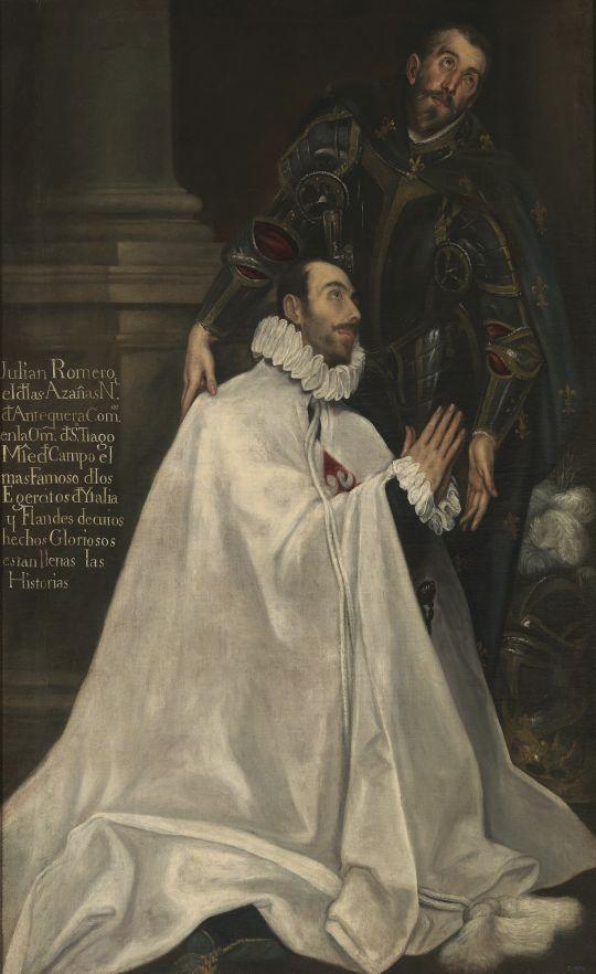 Портрет Хулиана Ромеро и его покровителя (1594-1604) (206,7 x 127,5) (Мадрид, Прадо)