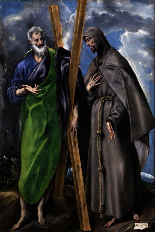 Св.Андрей и св.Франциск (ок.1595) (167 x 113) (Мадрид, Прадо)