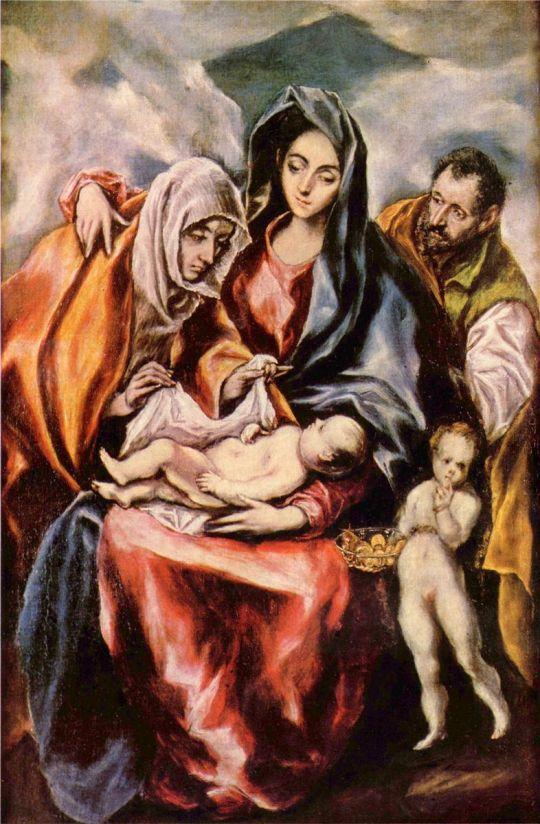 Святое семейство со св.Анной и юным Иоанном Крестителем (ок.1601) (Мадрид, Прадо)