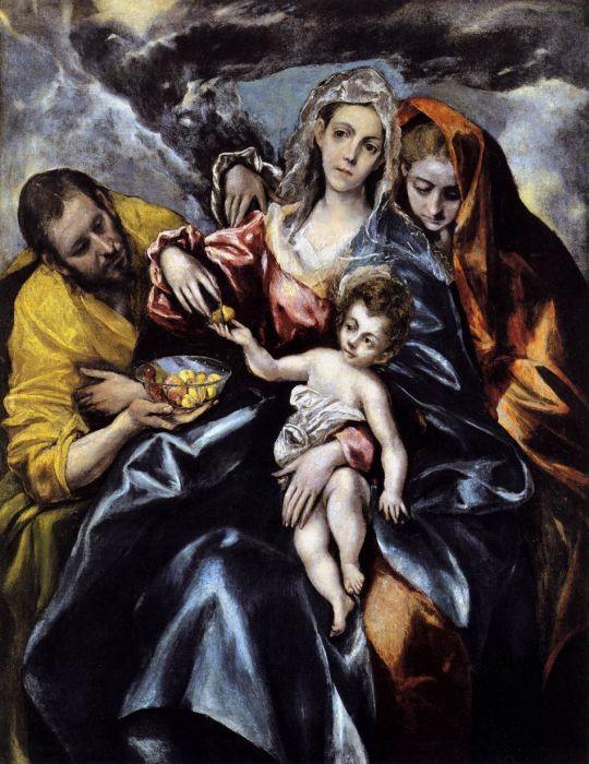 Святое семейство со св.марией Магдалиной (между 1595 и 1600) (Кливленд, Музей искусства)