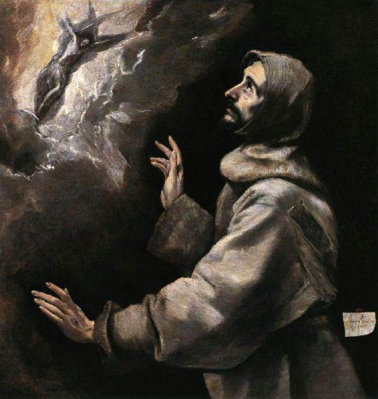 Стигматизация св.Франциска (ок.1590) (Балтимор, Музей искусства)