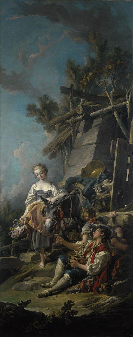 Пасторальная сцена-1 (1762) (231.5 x 91) (Эдинбург, Нац. галерея Шотландии).