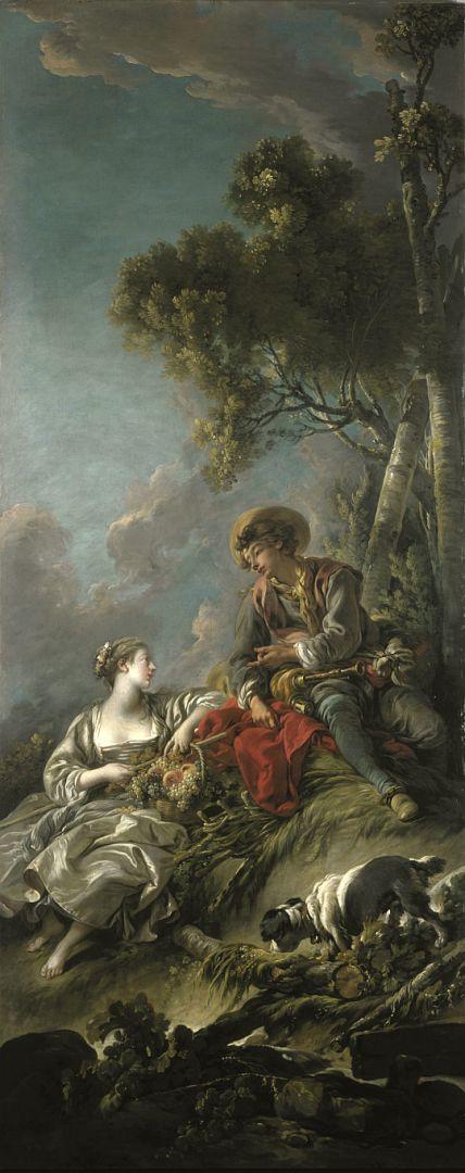 Пасторальная сцена-2 (1762) (231.5 x 91) (Эдинбург, Нац. галерея Шотландии)
