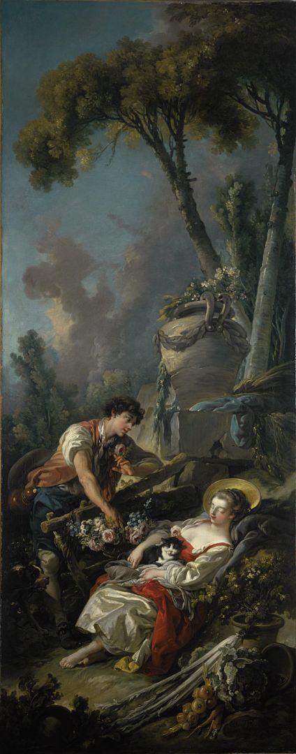 Пасторальная сцена-3 (1762) (231.5 x 91) (Эдинбург, Нац. галерея Шотландии)