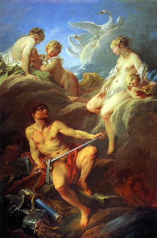 Венера, просящая у Вулкана оружие для Энея (1732) (252 x 175) (Париж, Лувр)