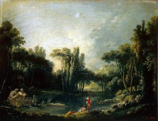 Пейзаж с прудом (1746) (51 x 65) (С-Петербург, Эрмитаж)