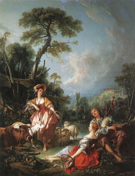 Летняя пастораль (1749) (259 x 197) (Лондон, Собрание Уоллеса)