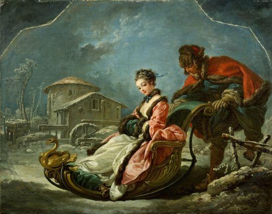 Четыре времени года. Зима (1755) (56.8 ? 73) (Нью-Йорк, коллекция Фрик)