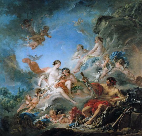 Вулкан дарит оружие Венере для Энея (1757) (45,5 x 42,4) (США, Вильямстаун, Институт искусства Стерлинга и Франсин Кларк)