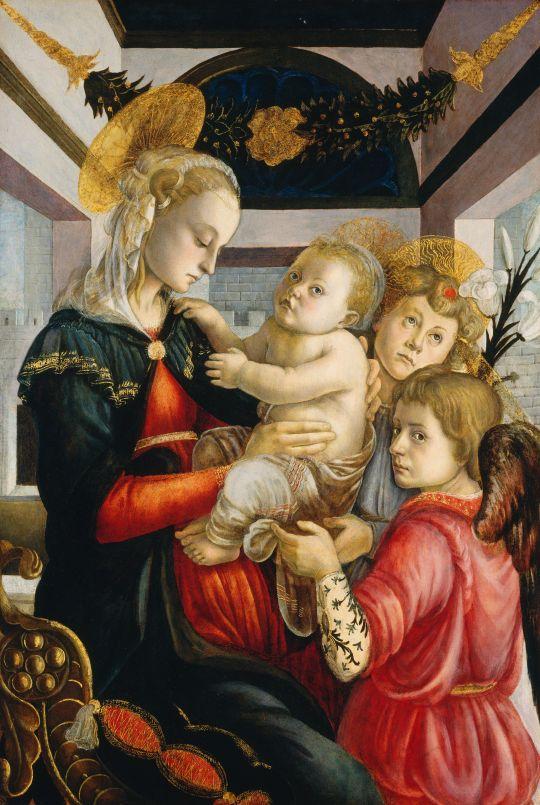 Мадонна с младенцем + два ангела (ок.1460-1465) (Вашингтон, Нац.галерея)