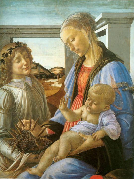 Мадонна Евхаристии (ок.1470) (84х65) (Бостон, Музей Изабеллы Стюарт Гарднер)