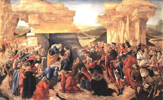 Поклонение волхвов (1500) (173 x 107,5) (Флоренция, Уффици)