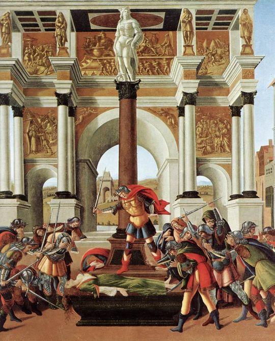История Лукреции (1496-1504) (84 х 180) (Бостон, Музей Изабеллы Стюарт Гарднер)_деталь