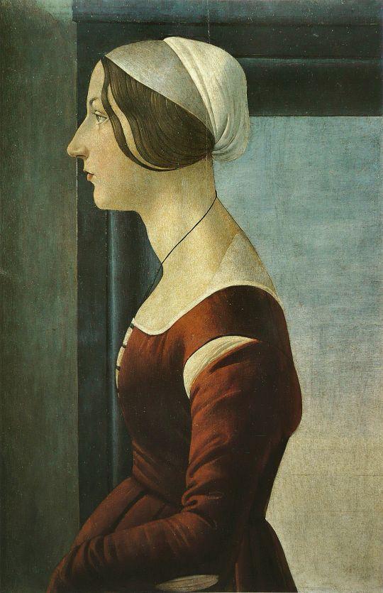 Портрет молодой женщины (1475) (41 x 61) (Флоренция, палаццо Питти, галерея Палатина)