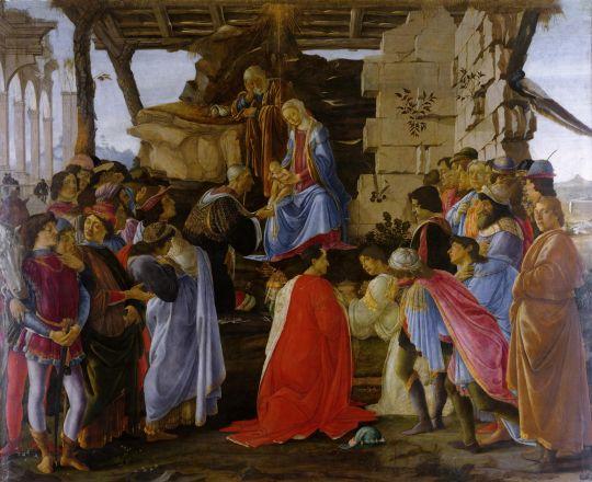 Поклонение волхвов (ок.1475) (111 х 134)  (Флоренцмя, Уффици)