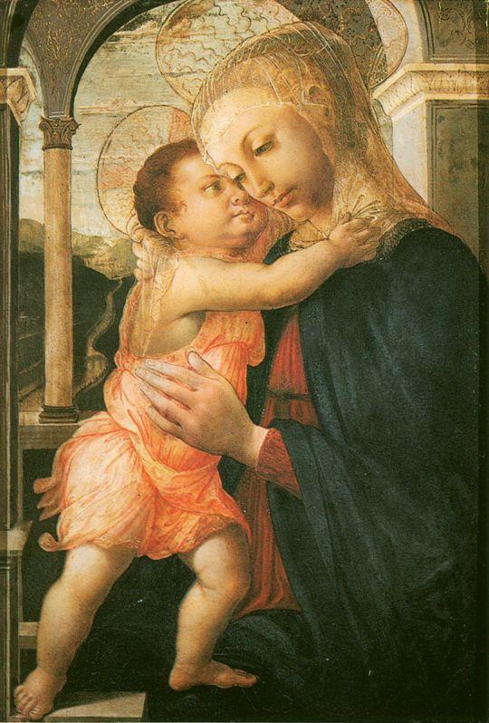 Мадонна делла Лоджия (ок.1467) (72 x 50) (Флоренция, Уффици)